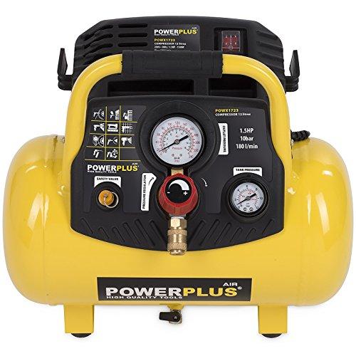 12L Druckluft Kompressor ölfrei 10 bar 1,5 PS 12 Liter Tank tragbar Druckregler