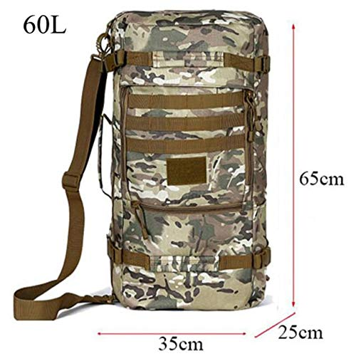 QOHNK 50 Litres Nylon High Grade Wearproof Travel Bag Best Backpack Male Large-Capacity Casual Backpack Female Inclined Shoulder