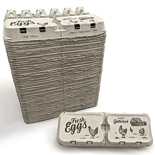Half Dozen Empty Egg Cartons- Bulk 50 Full Dozen Can Split to 100 Half...