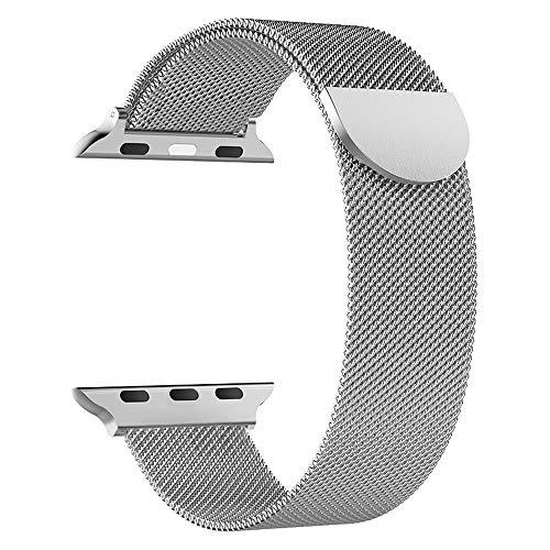 Cinturino magnetico in metallo, compatibile con cinturino di ricambio magnetico in acciaio inossidabile di alta qualità da 38 mm 40 mm 42 mm 44 mm adatto per orologi della serie iWatch 5/4/3/2/1