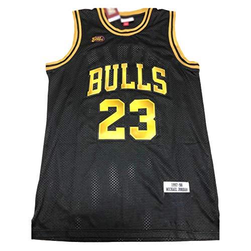 OKMJ J-o-r-d-a-n 23# Camiseta de tirantes con nombre y nmero de jugador de los toros en color negro dorado campen camiseta de malla transpirable S-XXL M