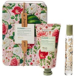Formulations with botanical inclusions of Camellia and Rosa Rugosa blended with soothing rosehip oil, shea butter and glycerine (hand cream) Certified Vegan friendly and Cruelty free Fragranced with notes of green leaves and rosebuds wrapped in sunsh...