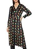 Scotch & Soda Printed V-Neck Midi Length Dress with Pleats Vestido Casual, Combo A 0217, S para Mujer