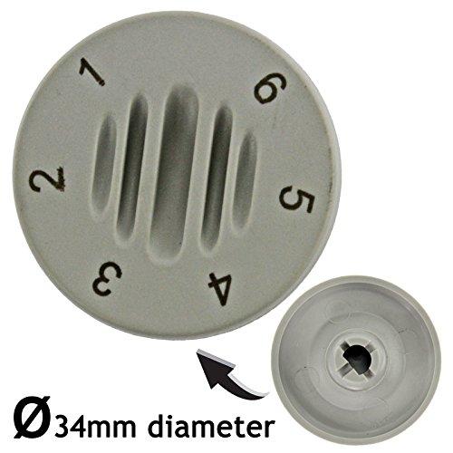 Newlec - Pomo de interruptor de control de temperatura para calentador, color beige y gris