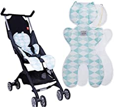Topwon Baby Stroller/Car Seat/High Chair/Pushchair Breathable Cotton Cushion Liner Mat Pad Cover Protector (3D Blue)