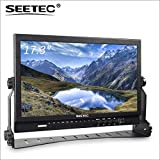 SEETEC P173-9HSD 17.3' Aluminum Design IPS 1920x1080 Pro Broadcast LCD Monitor with 3G-SDI HDMI AV YPbPr 3-Color Tally Light for Living Events and Shows
