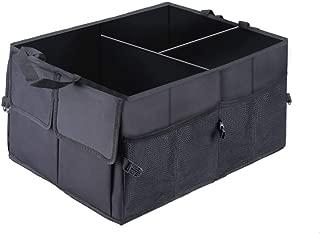 Car Trunk Storage Organizer Compartment Collapsible Portable Storage Cargo Box for SUV, Auto, Truck - Nonslip Waterproof Bottom