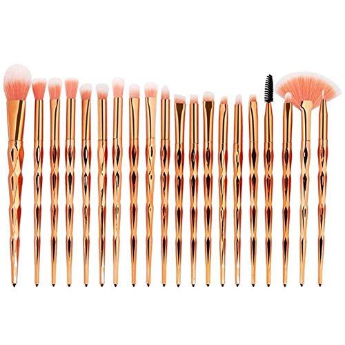 Brosse de maquillage Set Kit de pinceaux à maquillage, (20pcs) Kit de beauté de poignée de diamant de diamant de pinceau de sourcil de pinceau Cosmétiques Set Brosses (Color : 3)