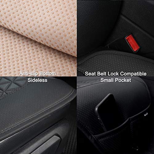 Black Panther 1 Pair Luxury PU Car Seat Covers Protectors for...