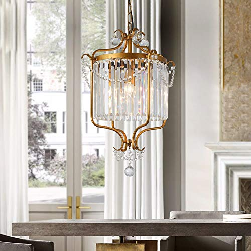 UKLLYY American Country Crystal Chandelier Escalera Doble Sala de Supervivencia Comedor...