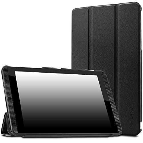 Infiland NVIDIA Shield Tablet K1 Case - Slim Shell Case Cover for 2015 Nvidia Shield K-1 8.0-Inch (Newest Version) / 2014 NVIDIA Shield 2 Tablet 8-Inch (with Auto Wake/Sleep Feature), Black