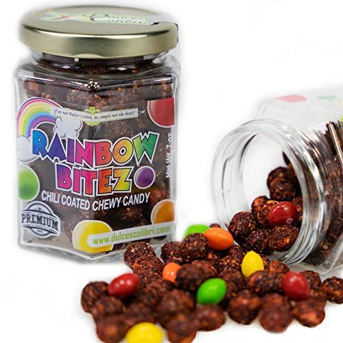 Premium Rainbow Bitez | Chili Coated Candy | Mess...