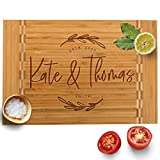 Personalized Cutting Board, 12 Designs & 3 Sizes, Bamboo Cutting Board, Wedding Gifts for Couple, Housewarming...