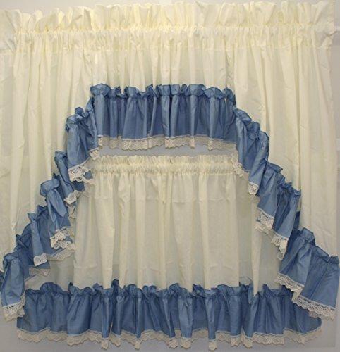 The_Curtain_Shop Martha Extra Full Ruffled 82Wx38L Swag Pair- Slate