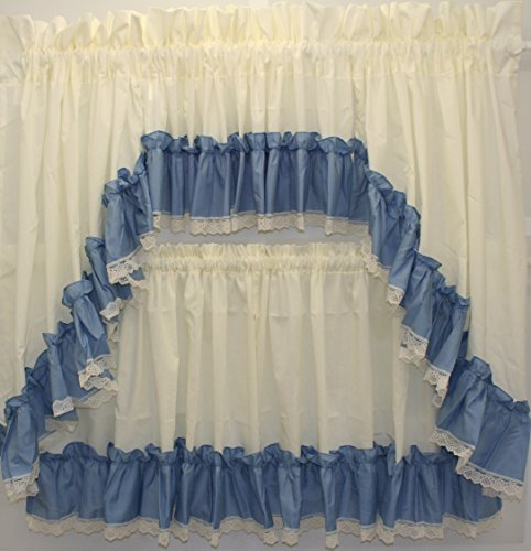 The_Curtain_Shop Martha Extra Full Ruffled 82Wx38L Swag Pair- Slate