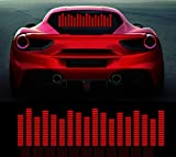 Car Music Rhythm LED Lamp for Rear Windshield - Sound Audio Activated Stickers Equalizer Glow LED Flash Light for Halloween Party, 27.5in X 6.3in (B)…
