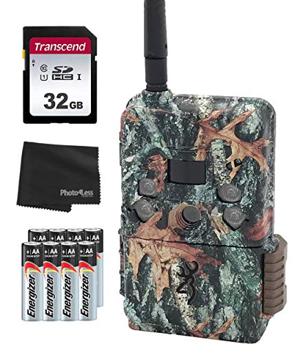 Browning BTC DWPS-VZW Defender Wireless Pro Scout Cell 16MP Trail Camera - Verizon + 32GB SD Card, 8 Batteries & Lens Cleaning Cloth