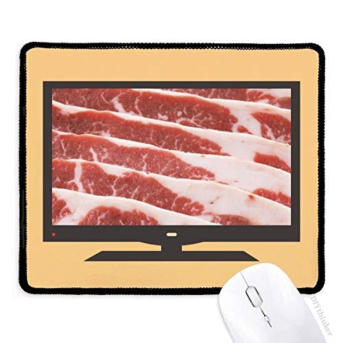 Varkenskoteletten Vlees Voedsel Textuur Computer Muis Pad Antislip Rubber Mousepad Game Office