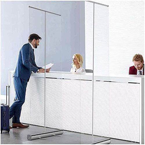 HKAFD Protectores de higiene transparentes para mostrador y escritorio de pie de suelo con soporte para cafeterías, tiendas al por menor, cajero, con bolsa de almacenamiento