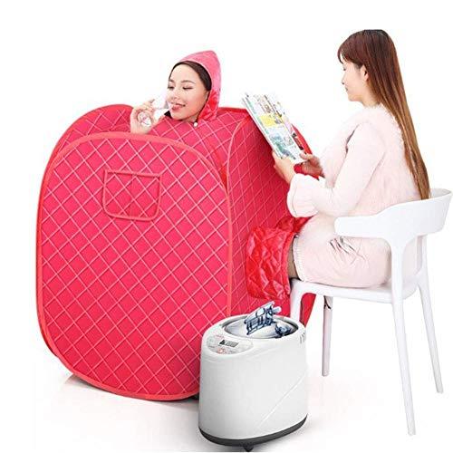 Sauna de vapor plegable Carpa de sauna terapéutica personal portátil 7 capas de protección 9 niveles de temperatura ajustables para deshumidificación,desintoxicación,belleza,2L