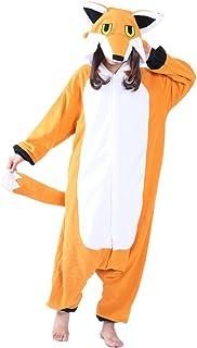 Pijamas de Animales Zorro Disfraces de Cosplay Adulto Unisex Zorro Pijamas Niño Adulto