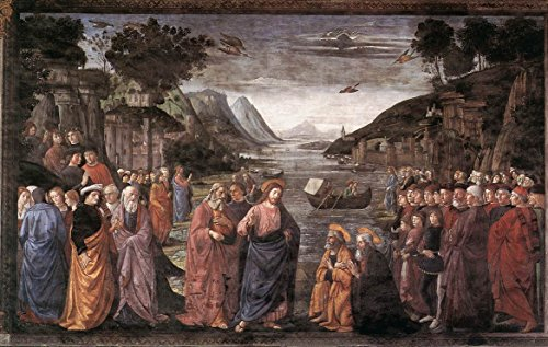"""Calling of the First Apostles by Domenico Ghirlandaio - 18"""" x 27"""" Premium Canvas Print"""