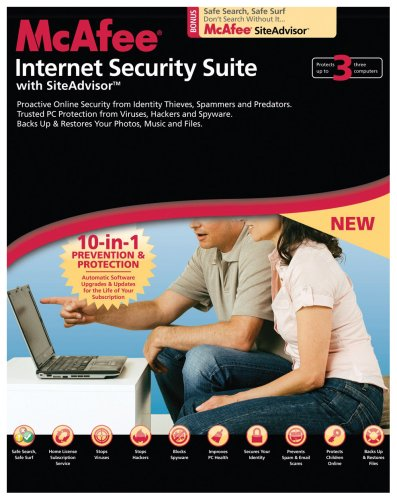 McAfee Internet Security Suite 2008 (3 User Edition) (PC)