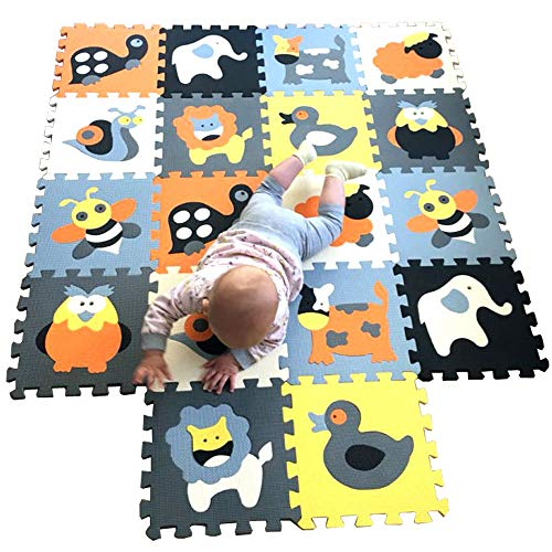 MQIAOHAM baby matte spielmatte puzzelteppich teppich puzzlematte tiere krabbelmatte schaumstoffmatte schaum bodenfliesen matten für babys puzzle mat foam schaumstoff P011011G321218