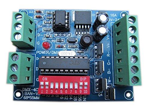 Dmx512 decodificador 4CH canal 16A controlador RGBW etapa del led Dj iluminación CMOS de salida