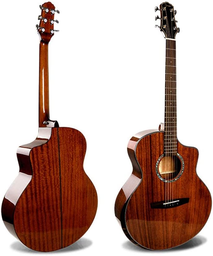 ZDAMN Guitarra De Gama Alta al por Mayor de 41 Pulgadas Brillante melocotón Core Completo Individual Guitarra acústica (Color : Natural, Size : 41 Inches)
