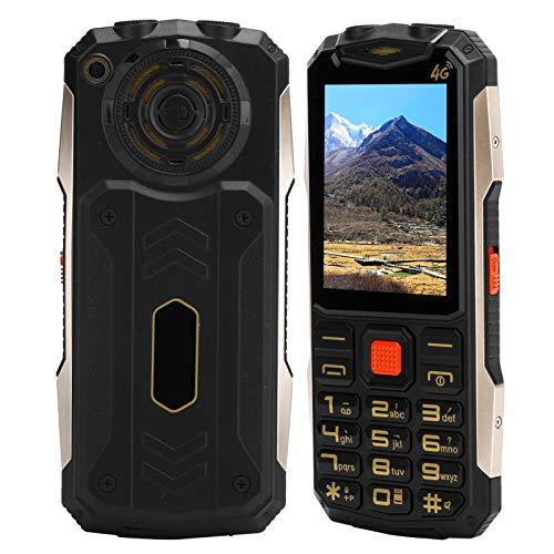 Teléfono móvil para personas mayores con pantalla de 2,4 pulgadas, teléfono móvil con botón SOS desbloqueado, teléfono móvil con doble modo de espera de 32 MB + 32 MB, 9 números familiares(Negro)