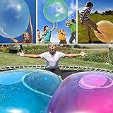LIGHT HOME 2 Stück aufblasbare Blase Ball, große erstaunliche aufblasbare Wasser Blase Ball interaktive Gummibälle im Freien (Lila, XL)