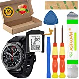 Galaxy Gear S3 Frontier SM-R760/ Gear S3 Classic SM-R770 Battery Replacement, EB-BR760ABE GH43-04699A Battery for BR760 R765 with Repair Tool Kit + Installation Instruction