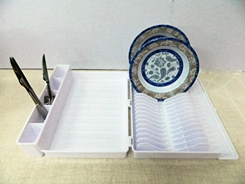 Blanco plegable escurreplatos Camping Car sèche-vaisselle plegable