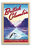 Magnet 1947 British Columbia Canada Vintage Style Fishing Travel Magnet Vinyl Magnetic Sheet for Lockers, Cars, Signs, Refrigerator 5'