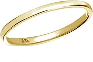 Sterling Silver or 14K Gold-Plated Baby Ring (2mm Band)