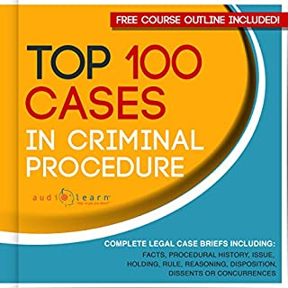 Top 100 Cases in Criminal Procedure audiobook cover art