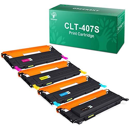 GREENSKY Compatible Toner Cartridges for Samsung CLT-P407C CLT-K407S CLT-C407S CLT-M407S CLT-Y407S CLP-320 CLP-320N CLP-321N CLP-325 CLP-325W CLP-326 CLX-3180 CLX-3185N CLX-3185FN CLX-3185FW (4-Pack)