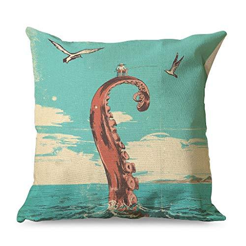 Qunrontan Funda de almohada con cierre de cremallera para decoración del hogar, cama, estilo familiar, color blanco, 45 x 45 cm