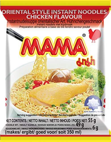 MAMA Instantnudeln mit Hühnerfleischgeschmack – Instantnudelsuppe orientalischer Art – Authentisch thailändisch kochen – 30 x 55 g