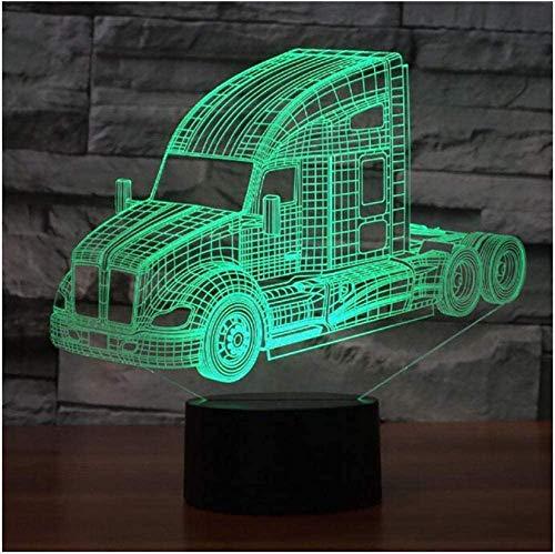3D Illusie Nachtlampje Festival Auto en Bus en Truck 3D Led Nachtlampje Led Acryl Kleurrijke Lichten Kids Tafellamp Sfeer USB Led Lamp Gift