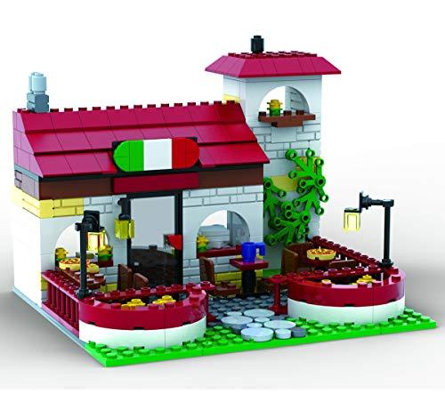 Brigamo Bloques de construcción Pizzeria Ristorante, 328 bloques de construcción