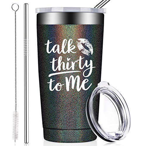 BIRGILT 30th Birthday Gifts for Women, Her, Best Friend, Wife, Girlfriend, Daughter, Funny Dirty 30 Decorations Ideas - 20oz Stainless Steel Insulated Tumbler Cup