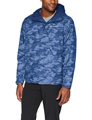 Columbia Men's Watertight Jacket, Carbon camo Print, L