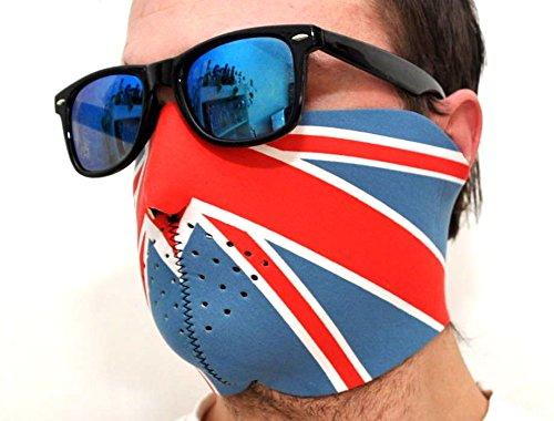 Neopren Maske England Biker Windschutz by schenkfix