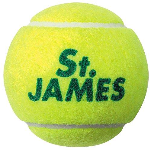 Dunlop St. James Pressurized Tennis Ball (4 Balls), yellow