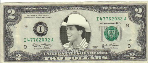 Rodeo PBR Lane Frost $2 Mint! Rare! $1