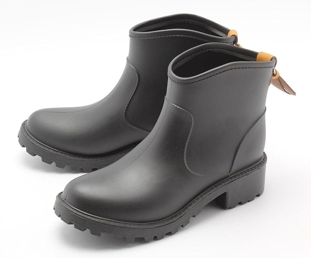 受け皿力強い泣くミレディー ML345 レザーウィング ショート レインブーツ 女性用 MILADY ML-345 レディース 長靴