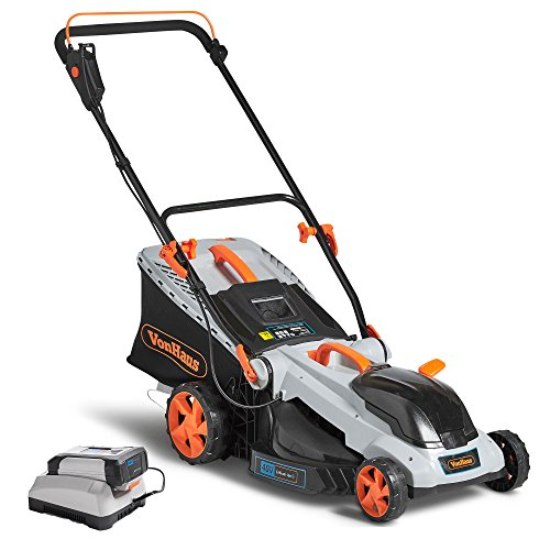 VonHaus 40V Max.16-Inch Cordless Lawn Mower Kit with 6 Level Adjustable Cutting...