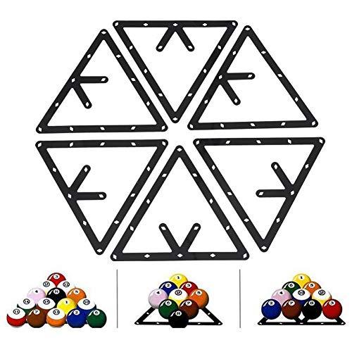 Soporte Triangular para Bolas de Billar, Triángulo Billar, 6 Unidades, Accesorio para Taco de Billar ✅